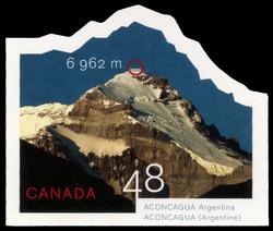 Aconcagua, Argentina, 6,962 m Canada Postage Stamp | Mountains