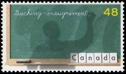 Teaching Canada Postage Stamp