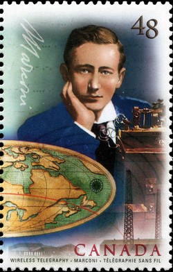 Wireless Telegraphy, Marconi Canada Postage Stamp | Communication Technology