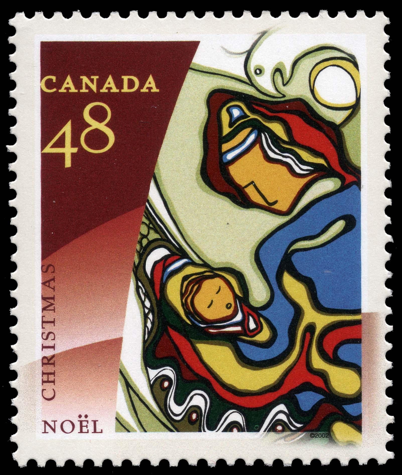 Genesis Canada Postage Stamp | Christmas, Aboriginal Art