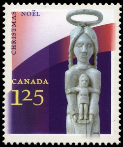 Mary and Child Canada Postage Stamp | Christmas, Aboriginal Art