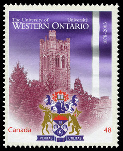The University of Western Ontario, 1878-2003 Canada Postage Stamp | Canadian Universities