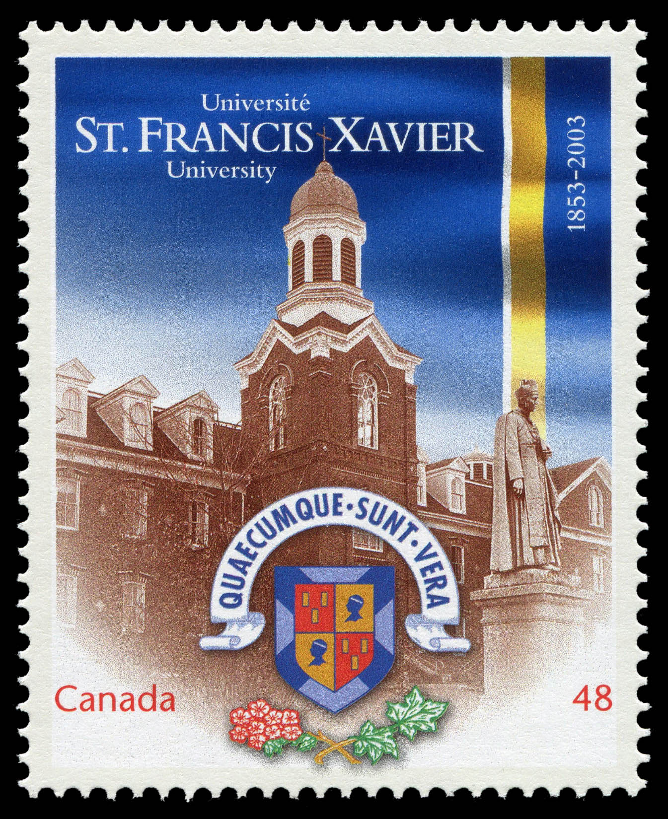 St. Francis Xavier University, 1853-2003 Canada Postage Stamp | Canadian Universities