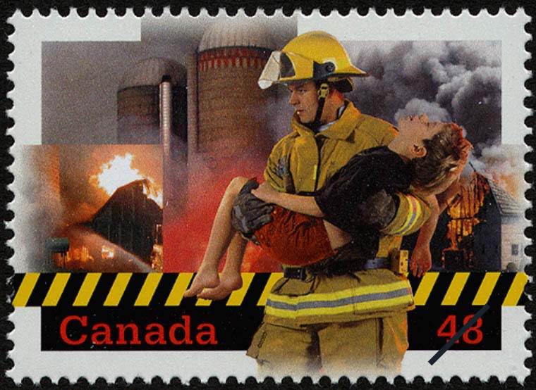 Canada's Volunteer Firefighters Canada Postage Stamp