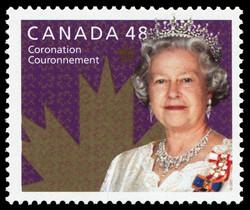 Queen Elizabeth II, Coronation Canada Postage Stamp