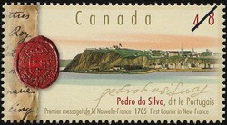 Pedro da Silva dit le Portugais, 1705, First Courier in New France Canada Postage Stamp
