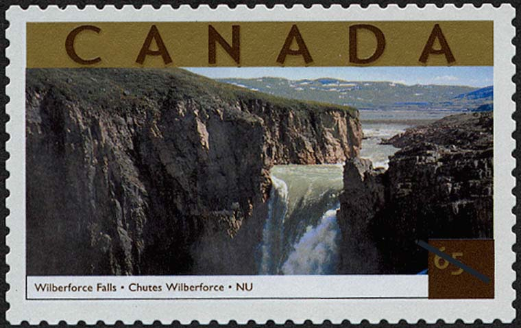 Wilberforce Falls, Nunavut Canada Postage Stamp | Tourist Attractions