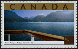Inside Passage, British Columbia Canada Postage Stamp | Tourist Attractions