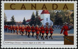 RCMP Depot Division, Saskatchewan Canada Postage Stamp | Tourist Attractions