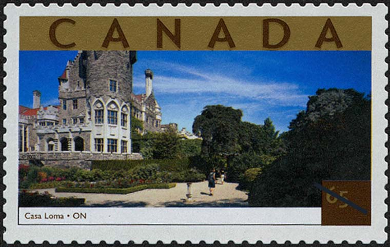 Casa Loma, Ontario Canada Postage Stamp | Tourist Attractions