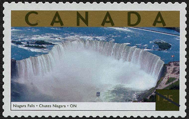 Niagara Falls, Ontario Canada Postage Stamp | Tourist Attractions
