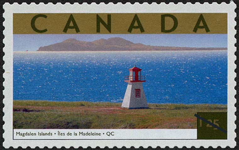 Magdalen Islands, Quebec Canada Postage Stamp | Tourist Attractions