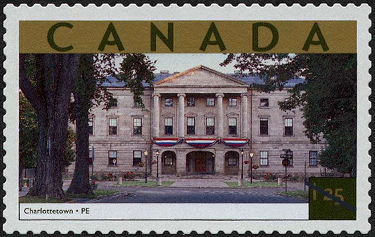 Charlottetown, Prince Edward Island Canada Postage Stamp | Tourist Attractions