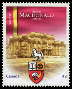Macdonald Institute, 1903-2003 Canada Postage Stamp | Canadian Universities