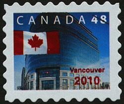 Vancouver 2010 Canada Postage Stamp