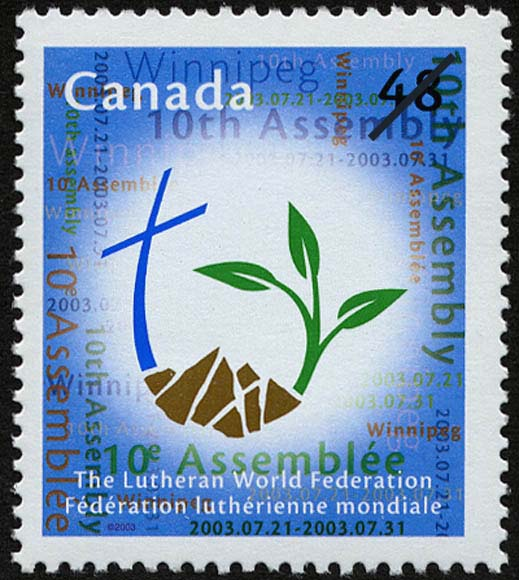 The Lutheran World Federation, 10th Assembly, Winnipeg, 2003.07.21-2003.07.31 Canada Postage Stamp