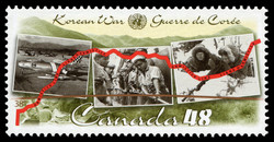Korean War  Postage Stamp