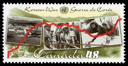 Korean War Canada Postage Stamp