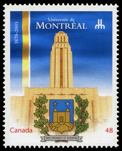 Universite de Montreal, 1878-2003 Canada Postage Stamp   Canadian Universities