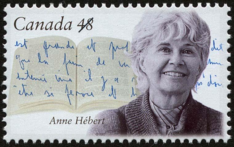 Anne Hebert Canada Postage Stamp