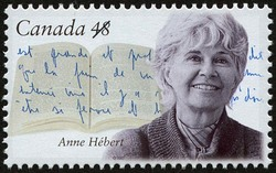 Anne Hebert Canada Postage Stamp | Canadian Authors
