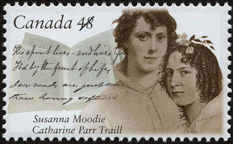 Susanna Moodie, Catharine Parr Traill Canada Postage Stamp | Canadian Authors