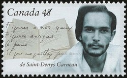 Hector de Saint-Denys Garneau Canada Postage Stamp | Canadian Authors