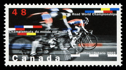 Road World Championships, Hamilton, Ontario, 2003 Canada Postage Stamp