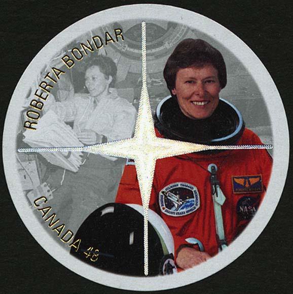 Roberta Bondar Canada Postage Stamp   Canadian Astronauts