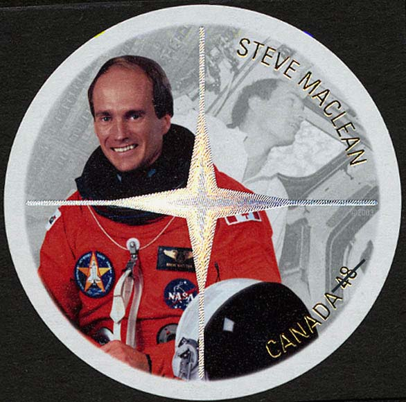 Steve MacLean Canada Postage Stamp   Canadian Astronauts