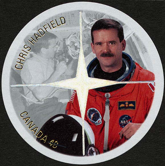 Chris Hadfield Canada Postage Stamp | Canadian Astronauts