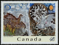 Jean-Paul Riopelle Canada Postage Stamp | Jean-Paul Riopelle