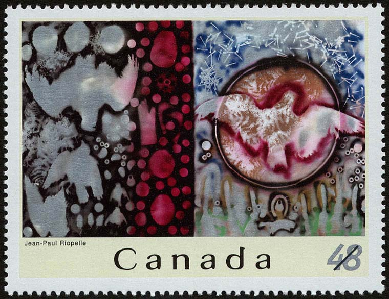 Jean-Paul Riopelle Canada Postage Stamp | Jean-Paul Riopelle