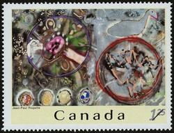 Jean-Paul Riopelle Canada Postage Stamp   Jean-Paul Riopelle