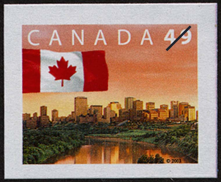 Canada Flag - City of Edmonton Canada Postage Stamp | Flag