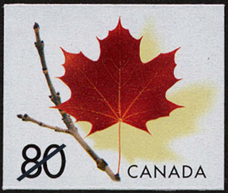 Red Maple Leaf Canada Postage Stamp