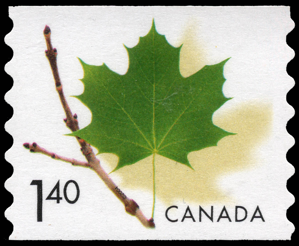 Green Maple Leaf Canada Postage Stamp
