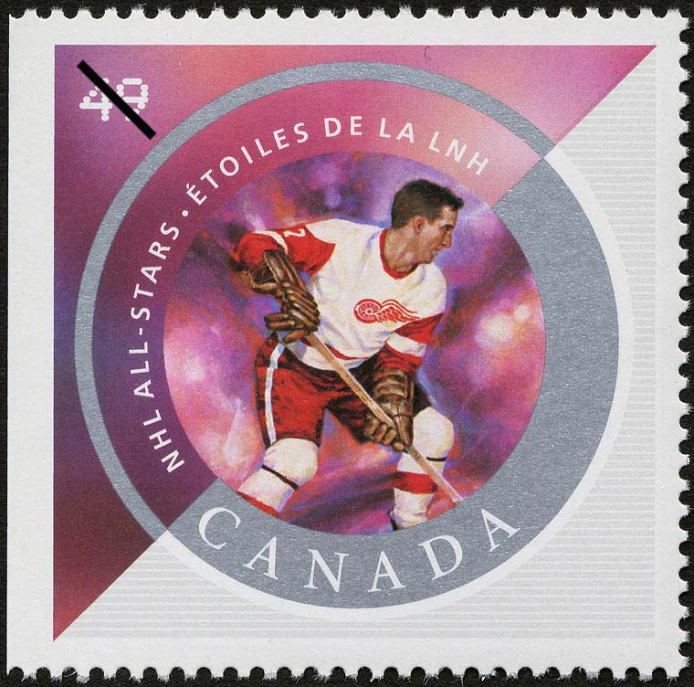 Ted Lindsay Canada Postage Stamp | NHL All-Stars