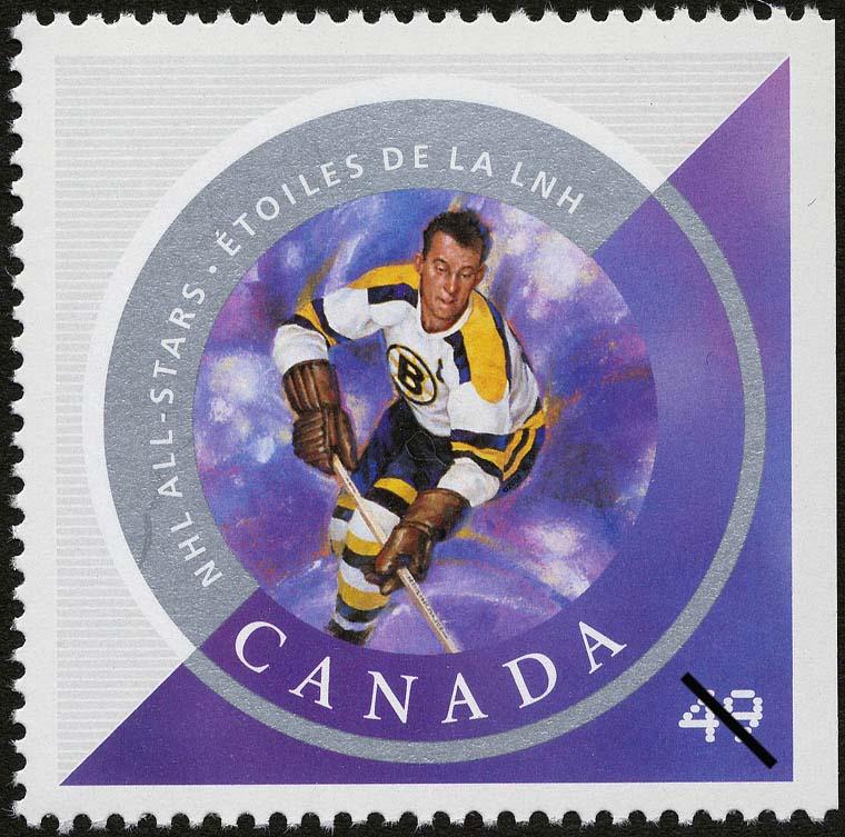 Milt Schmidt Canada Postage Stamp   NHL All-Stars