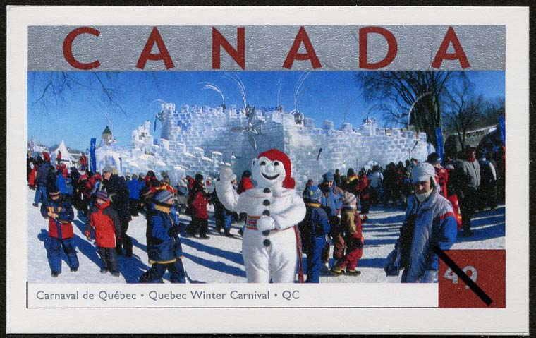 Quebec Winter Carnival, Quebec Canada Postage Stamp | Tourist Attractions