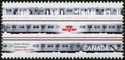 Toronto Transit Commission, Subway, 1954-2004 Canada Postage Stamp | Urban Transit, Light Rail