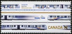 TransLink, SkyTrain, Millennium Line Canada Postage Stamp | Urban Transit, Light Rail