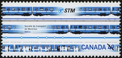 Societe de transport de Montreal, Metro Canada Postage Stamp | Urban Transit, Light Rail