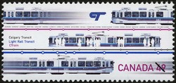 Calgary Transit, Light Rail Transit, CTrain Canada Postage Stamp | Urban Transit, Light Rail