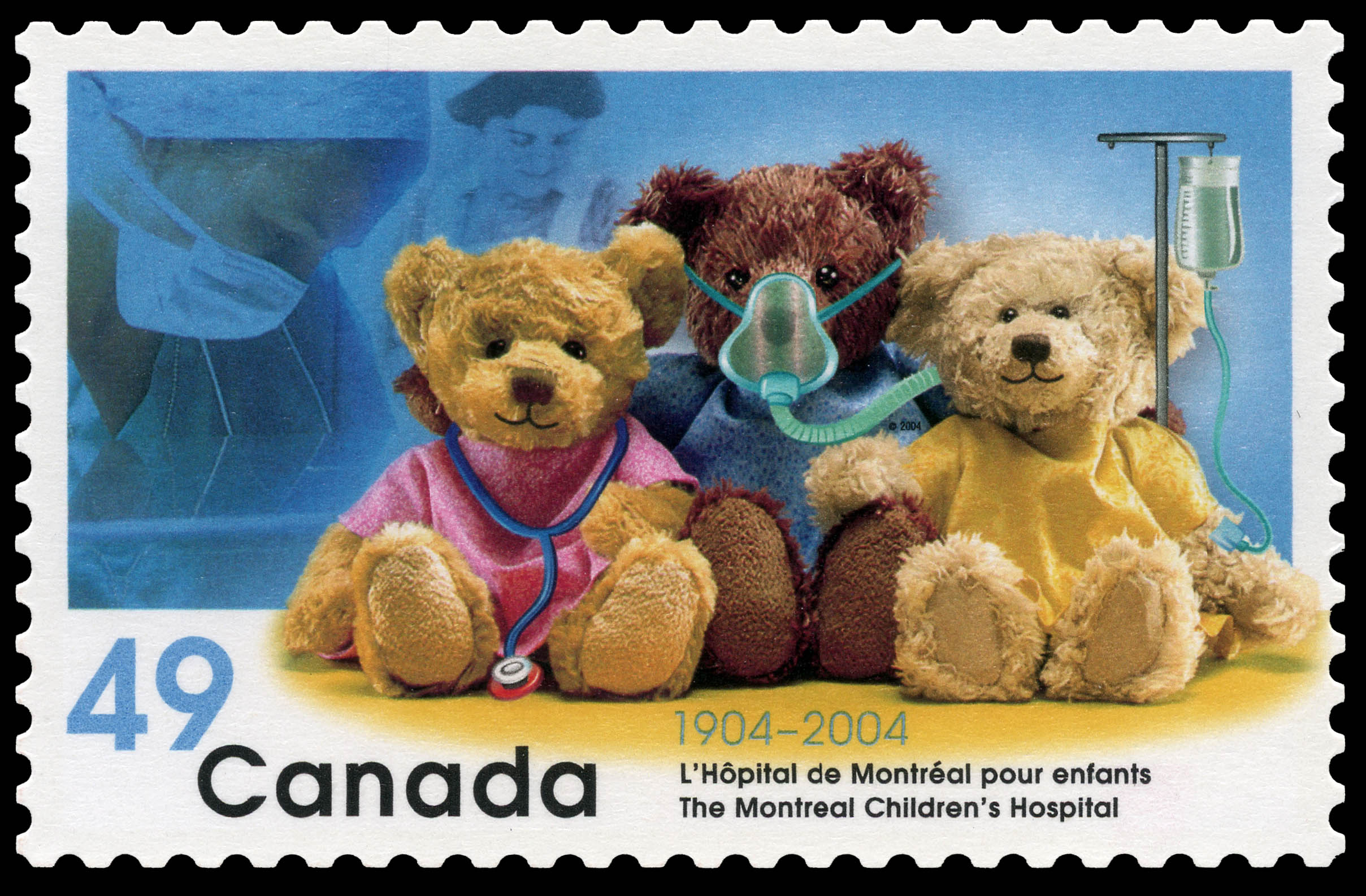 The Montreal Children's Hospital, 1904-2004 Canada Postage Stamp