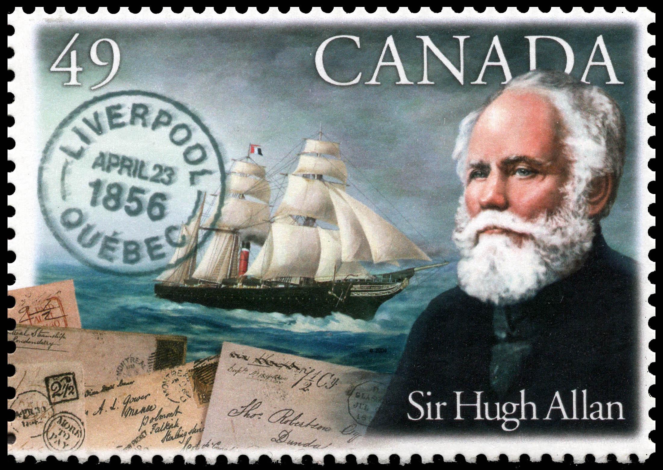 Sir Hugh Allan Canada Postage Stamp | Pioneers of Transatlantic Mail Service