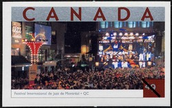 Festival International de Jazz de Montreal, Quebec Canada Postage Stamp | Tourist Attractions