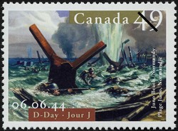 D-Day, 06.06.44, Juno Beach, Normandy Canada Postage Stamp