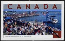 Traversee internationale du lac St-Jean, Quebec Canada Postage Stamp | Tourist Attractions