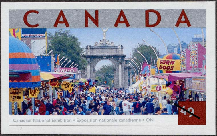 Canadian National Exhibition, Ontario Canada Postage Stamp | Tourist Attractions